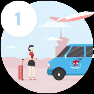 transport osób na lotnisko