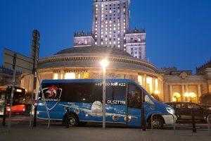 Bus na lotnisko Chopina Okęcie Warszawa – trasa Olsztyn – Warszawa
