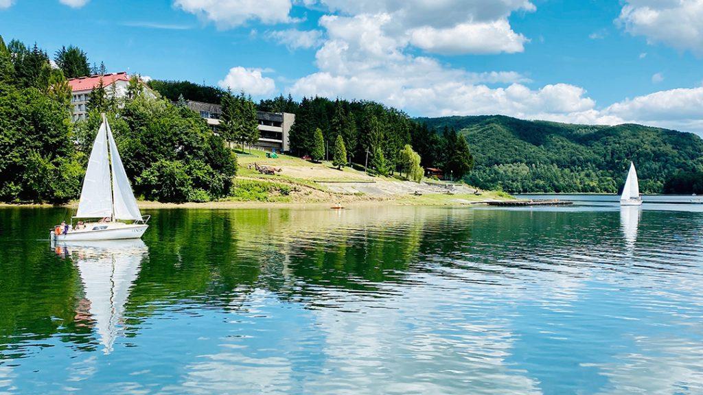 Jezioro Solińskie w Bieszczadach